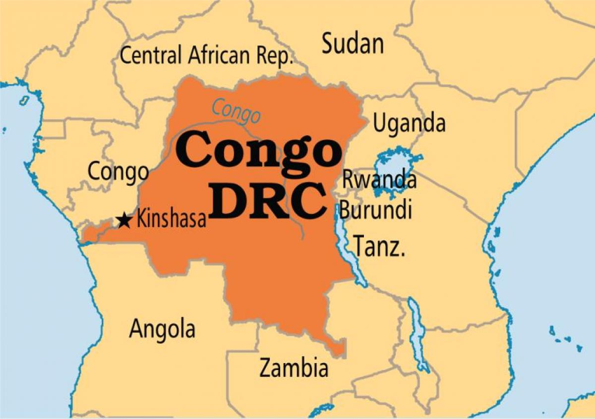 map of drc